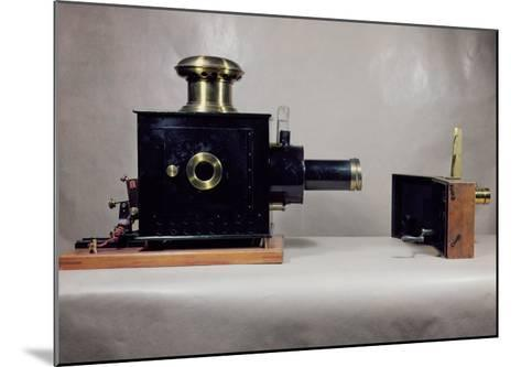 View of One of the First Cinema Projectors, Manufactured by August--Mounted Giclee Print