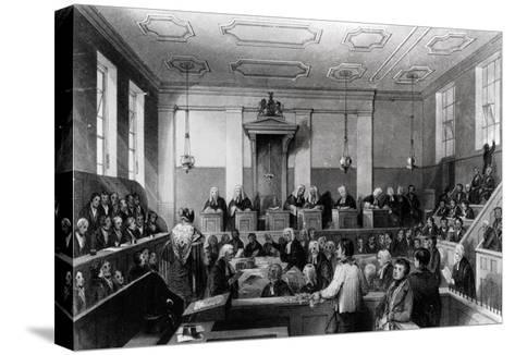 Central Criminal Court, the Old Bailey, Engraved by H. Melville-Thomas Hosmer Shepherd-Stretched Canvas Print