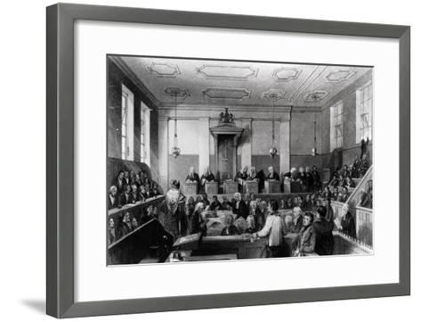 Central Criminal Court, the Old Bailey, Engraved by H. Melville-Thomas Hosmer Shepherd-Framed Art Print