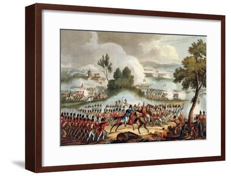 The Left Wing of the British Army, at Battle of Waterloo, 1815, J. Jenkins, Engrave, T. Sutherland-William Heath-Framed Art Print