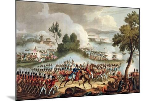 The Left Wing of the British Army, at Battle of Waterloo, 1815, J. Jenkins, Engrave, T. Sutherland-William Heath-Mounted Giclee Print
