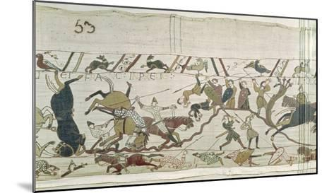 The English and French Fall Side by Side in Battle, from the Bayeux Tapestry--Mounted Giclee Print