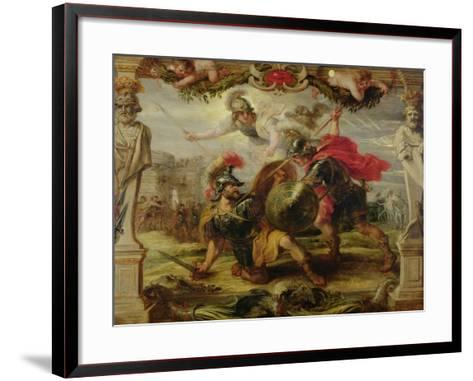 Achilles Defeating Hector, 1630-32-Peter Paul Rubens-Framed Art Print