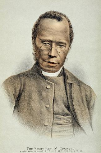 Portrait of the Right Reverend Dr. Samuel Adjai Crowther--Stretched Canvas Print