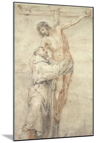 St. Francis Rejecting the World and Embracing Christ-Bartolome Esteban Murillo-Mounted Giclee Print