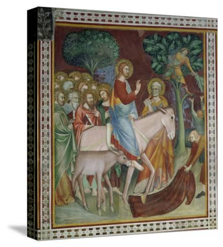 The Entry of Christ Into Jerusalem, from a Series of Scenes of the New Testament- Barna Da Siena-Stretched Canvas Print