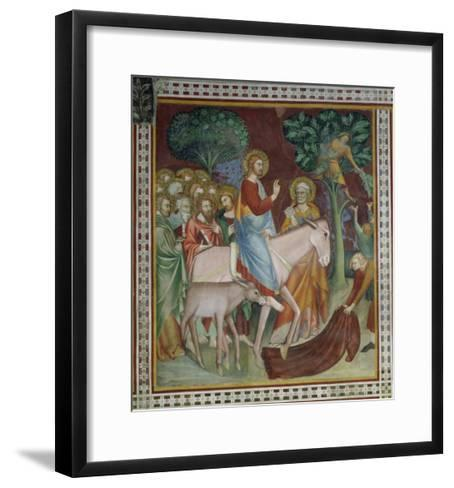 The Entry of Christ Into Jerusalem, from a Series of Scenes of the New Testament- Barna Da Siena-Framed Art Print