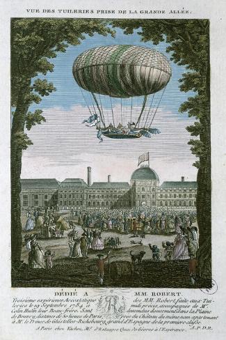 The Third Flight of Nicholas Robert--Stretched Canvas Print