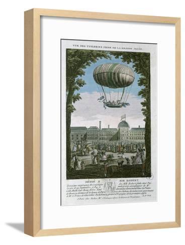 The Third Flight of Nicholas Robert--Framed Art Print