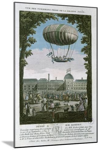 The Third Flight of Nicholas Robert--Mounted Giclee Print