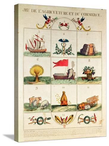 The Game of Agriculture and Commerce, Late 18th Century--Stretched Canvas Print