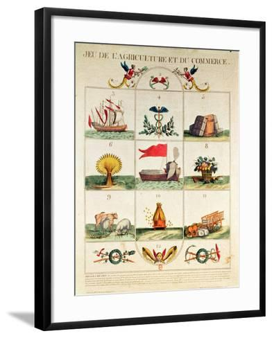 The Game of Agriculture and Commerce, Late 18th Century--Framed Art Print