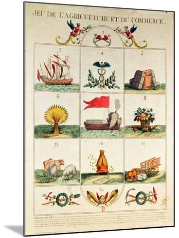 The Game of Agriculture and Commerce, Late 18th Century--Mounted Giclee Print