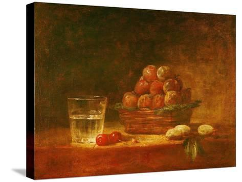 Still Life of Fruit and a Glass, 1759-Jean-Baptiste Simeon Chardin-Stretched Canvas Print