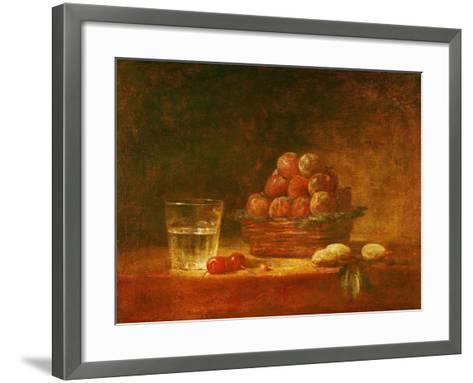 Still Life of Fruit and a Glass, 1759-Jean-Baptiste Simeon Chardin-Framed Art Print