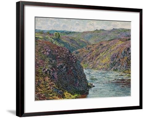 Ravines of the Creuse at the End of the Day, 1889-Claude Monet-Framed Art Print