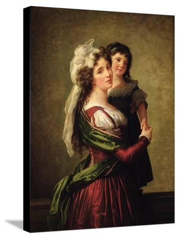 Madame Rousseau and Her Daughter, 1789-Elisabeth Louise Vigee-LeBrun-Stretched Canvas Print