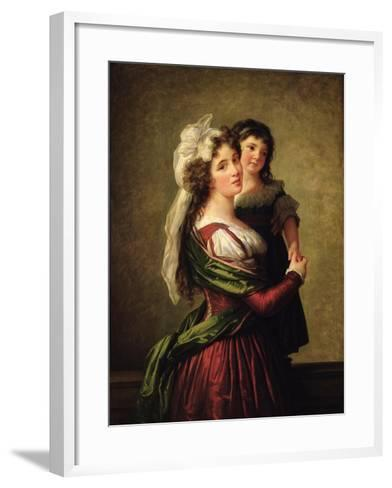 Madame Rousseau and Her Daughter, 1789-Elisabeth Louise Vigee-LeBrun-Framed Art Print