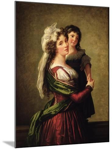 Madame Rousseau and Her Daughter, 1789-Elisabeth Louise Vigee-LeBrun-Mounted Giclee Print