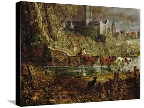 Salisbury Cathedral from the Meadows, 1831-John Constable-Stretched Canvas Print