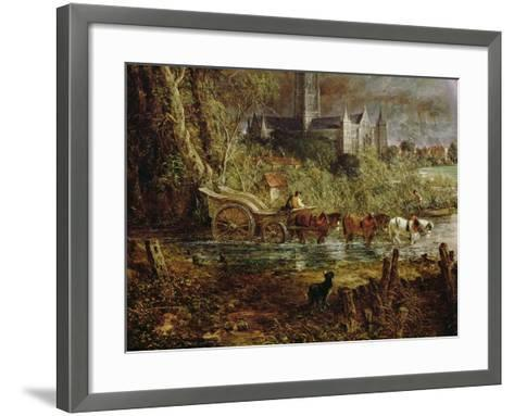 Salisbury Cathedral from the Meadows, 1831-John Constable-Framed Art Print