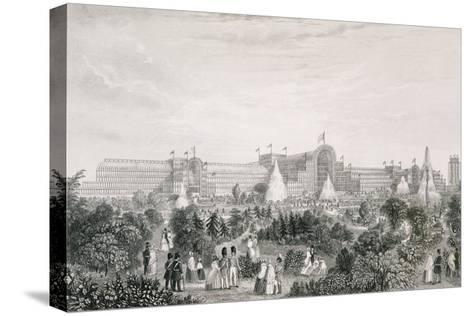 The New Crystal Palace at Sydenham, Engraved by Lacey--Stretched Canvas Print