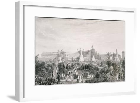The New Crystal Palace at Sydenham, Engraved by Lacey--Framed Art Print