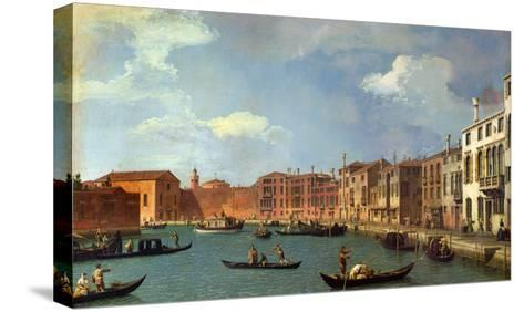 View of the Canal of Santa Chiara, Venice-Canaletto-Stretched Canvas Print