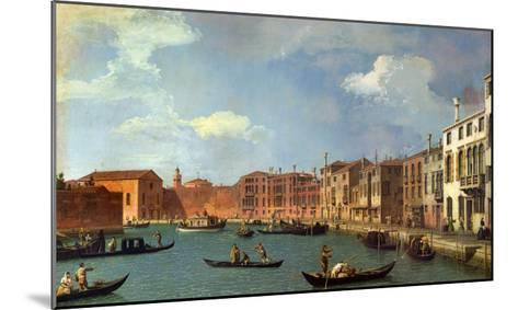 View of the Canal of Santa Chiara, Venice-Canaletto-Mounted Giclee Print