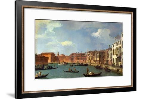 View of the Canal of Santa Chiara, Venice-Canaletto-Framed Art Print