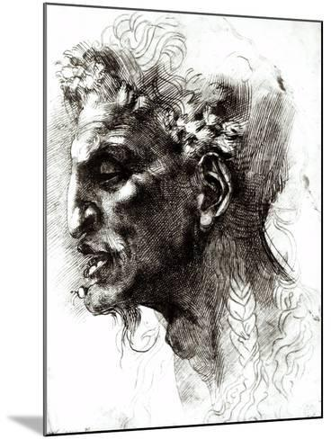 Head of a Satyr-Michelangelo Buonarroti-Mounted Giclee Print