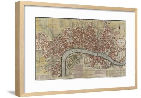 New and Exact Plan of the Cities of London and Westminster and the Borough of Southwark, 1725--Framed Art Print