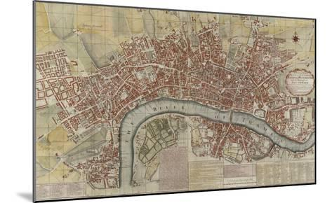 New and Exact Plan of the Cities of London and Westminster and the Borough of Southwark, 1725--Mounted Giclee Print