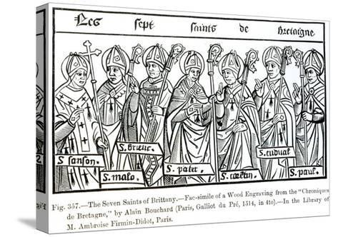 The Seven Saints of Brittany, from Chroniques de Bretagne Bouchard, c.1514--Stretched Canvas Print