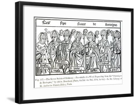 The Seven Saints of Brittany, from Chroniques de Bretagne Bouchard, c.1514--Framed Art Print