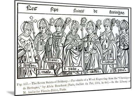 The Seven Saints of Brittany, from Chroniques de Bretagne Bouchard, c.1514--Mounted Giclee Print
