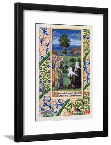 Martha and Mary Telling Jesus of the Death of Lazarus, Book of Hours of Louis D'Orleans, 1469-Jean Colombe-Framed Art Print