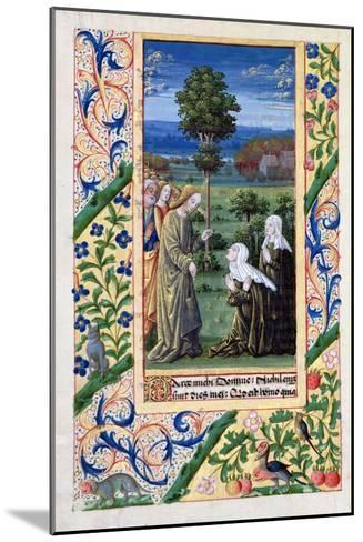 Martha and Mary Telling Jesus of the Death of Lazarus, Book of Hours of Louis D'Orleans, 1469-Jean Colombe-Mounted Giclee Print