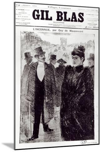 Illustration For LInconnue by Guy de Maupassant-Th?ophile Alexandre Steinlen-Mounted Giclee Print