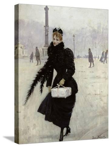 Parisian Woman in the Place de La Concorde, c.1890-Jean B?raud-Stretched Canvas Print