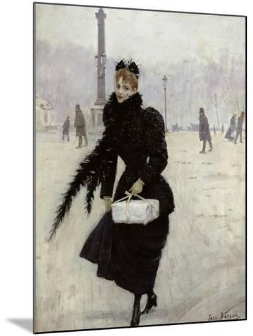 Parisian Woman in the Place de La Concorde, c.1890-Jean B?raud-Mounted Giclee Print