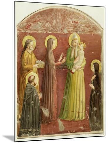 The Presentation in the Temple, from a Series of Prints Made by the Arundel Society-Fra Angelico-Mounted Giclee Print