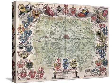 Map of Frankfurt and the Surrounding Area, from Nova Hanc Territori Francofurtensis Tabulum, 1649-Joan Blaeu-Stretched Canvas Print