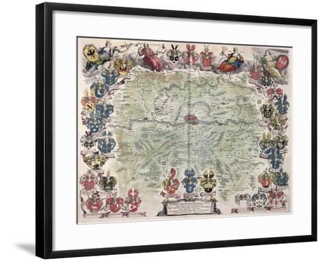 Map of Frankfurt and the Surrounding Area, from Nova Hanc Territori Francofurtensis Tabulum, 1649-Joan Blaeu-Framed Art Print