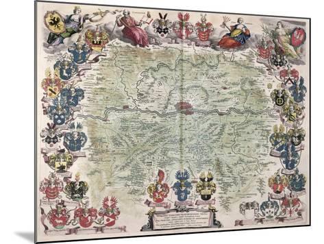 Map of Frankfurt and the Surrounding Area, from Nova Hanc Territori Francofurtensis Tabulum, 1649-Joan Blaeu-Mounted Giclee Print