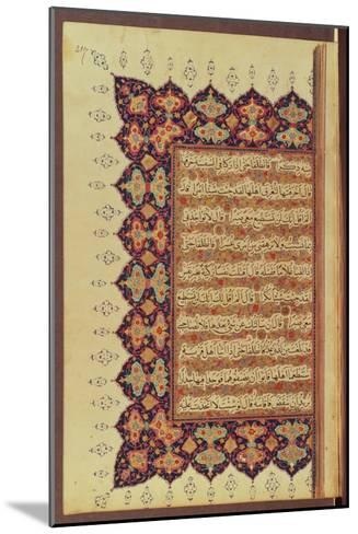 Page from a Koran Manuscript--Mounted Giclee Print