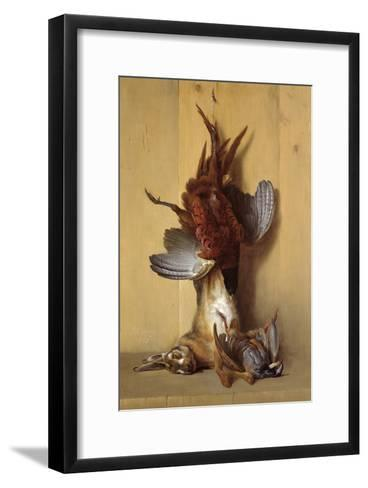 Still Life with a Hare, a Pheasant and a Red Partridge, 1753-Jean-Baptiste Oudry-Framed Art Print