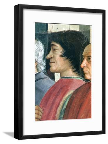 Lorenzo Medici, St. Francis Receives the Rule of Order, Cycle: Life of St. Francis of Assisi, 1486-Domenico Ghirlandaio-Framed Art Print