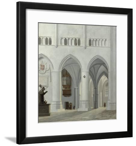 Interior of the Church of St. Bavo, Haarlem, 1630-Pieter Jansz Saenredam-Framed Art Print