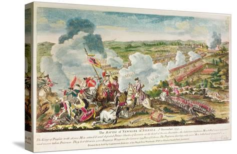 The Battle of Neumark, Silesia 5th December, 1757--Stretched Canvas Print